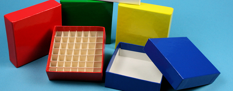 Fiberboard cryovial boxes