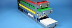 Bravo drawers racks 140 mm width open
