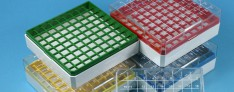 Polycarbonate Cryo boxes encodes 123...