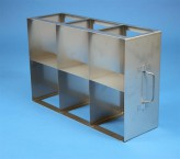 ALPHA 100 cryo cabinet rack 3x2 compartments for 6 Cryo boxes up to 136x136x103 mm folding handle, open frame