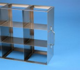 ALPHA 100 cryo cabinet rack 3x3 compartments for 9 Cryo boxes up to 136x136x103 mm folding handle, open frame