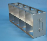ALPHA 100 cryo cabinet rack 4x2 compartments for 8 Cryo boxes up to 136x136x103 mm folding handle, open frame
