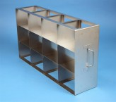 ALPHA 100 cryo cabinet rack 4x3 compartments for 12 Cryo boxes up to 136x136x103 mm folding handle, open frame