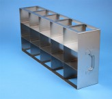 ALPHA 100 cryo cabinet rack 5x3 compartments for 15 Cryo boxes up to 136x136x103 mm folding handle, open frame