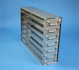 ALPHA 130 cryo cabinet rack 4x2 compartments for 8 Cryo boxes up to 136x136x133 mm folding handle, open frame