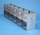 ALPHA 130 cryo cabinet rack 5x2 compartments for 10 Cryo boxes up to 136x136x133 mm folding handle, open frame