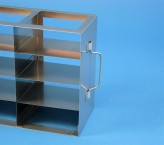 ALPHA 25 cryo cabinet rack 2x4 compartments (each 2x) for 16 Cryo boxes up to 136x136x28 mm folding handle, open frame