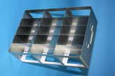 ALPHA 25 cryo cabinet rack 3x5 compartments (each 2x) for 30 Cryo boxes up to 136x136x28 mm folding handle, open frame