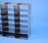 ALPHA 25 cryo cabinet rack 3x6 compartments (each 2x) for 36 Cryo boxes up to 136x136x28 mm folding handle, open frame