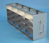 ALPHA 25 cryo cabinet rack 4x4 compartments (each 2x) for 32 Cryo boxes up to 136x136x28 mm folding handle, open frame