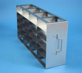 ALPHA 25 cryo cabinet rack 4x5 compartments (each 2x) for 40 Cryo boxes up to 136x136x28 mm folding handle, open frame