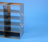 ALPHA 25 cryo cabinet rack 5x5 compartments (each 2x) for 50 Cryo boxes up to 136x136x28 mm folding handle, open frame