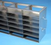 ALPHA 32 cryo cabinet rack 3x6 compartments for 18 Cryo boxes up to 136x136x35 mm folding handle, open frame