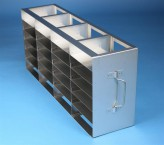 ALPHA 32 cryo cabinet rack 4x6 compartments for 24 Cryo boxes up to 136x136x35 mm folding handle, open frame