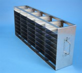 ALPHA 32 cryo cabinet rack 5x8 compartments for 40 Cryo boxes up to 136x136x35 mm folding handle, open frame