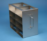 ALPHA 50 cryo cabinet rack 2x4 compartments for 8 Cryo boxes up to 136x136x53 mm folding handle, open frame