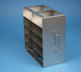 ALPHA 50 cryo cabinet rack 2x5 compartments for 10 Cryo boxes up to 136x136x53 mm folding handle, open frame