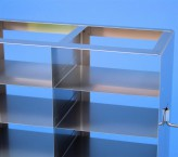 ALPHA 50 cryo cabinet rack 2x6 compartments for 12 Cryo boxes up to 136x136x53 mm folding handle, open frame