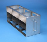 ALPHA 50 cryo cabinet rack 3x3 compartments for 9 Cryo boxes up to 136x136x53 mm folding handle, open frame