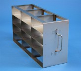 ALPHA 50 cryo cabinet rack 3x4 compartments for 12 Cryo boxes up to 136x136x53 mm folding handle, open frame