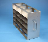 ALPHA 50 cryo cabinet rack 3x5 compartments for 15 Cryo boxes up to 136x136x53 mm folding handle, open frame