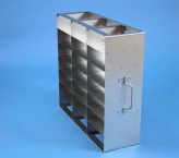 ALPHA 50 cryo cabinet rack 3x7 compartments for 21 Cryo boxes up to 136x136x53 mm folding handle, open frame