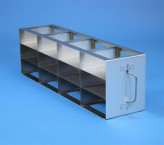 ALPHA 50 cryo cabinet rack 4x3 compartments for 12 Cryo boxes up to 136x136x53 mm folding handle, open frame