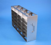 ALPHA 50 cryo cabinet rack 4x6 compartments for 24 Cryo boxes up to 136x136x53 mm folding handle, open frame