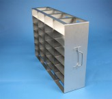 ALPHA 50 cryo cabinet rack 4x7 compartments for 28 Cryo boxes up to 136x136x53 mm folding handle, open frame