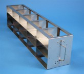 ALPHA 50 cryo cabinet rack 5x3 compartments for 15 Cryo boxes up to 136x136x53 mm folding handle, open frame