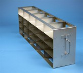 ALPHA 50 cryo cabinet rack 5x4 compartments for 20 Cryo boxes up to 136x136x53 mm folding handle, open frame