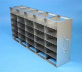 ALPHA 50 cryo cabinet rack 5x6 compartments for 30 Cryo boxes up to 136x136x53 mm folding handle, open frame
