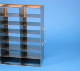 ALPHA 50 cryo cabinet rack 5x7 compartments for 35 Cryo boxes up to 136x136x53 mm folding handle, open frame