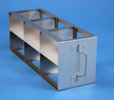 ALPHA 75 cryo cabinet rack 3x2 compartments for 6 Cryo boxes up to 136x136x78 mm folding handle, open frame