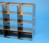 ALPHA 75 cryo cabinet rack 3x4 compartments for 12 Cryo boxes up to 136x136x78 mm folding handle, open frame