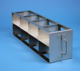 ALPHA 75 cryo cabinet rack 4x2 compartments for 8 Cryo boxes up to 136x136x78 mm folding handle, open frame