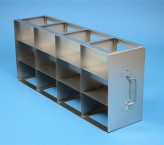 ALPHA 75 cryo cabinet rack 4x3 compartments for 12 Cryo boxes up to 136x136x78 mm folding handle, open frame