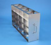 ALPHA 75 cryo cabinet rack 4x4 compartments for 16 Cryo boxes up to 136x136x78 mm folding handle, open frame