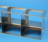 ALPHA 75 cryo cabinet rack 5x2 compartments for 10 Cryo boxes up to 136x136x78 mm folding handle, open frame