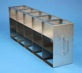 ALPHA 75 cryo cabinet rack 5x3 compartments for 15 Cryo boxes up to 136x136x78 mm folding handle, open frame