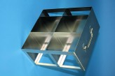 CellBox Mini  cryo cabinet rack 2x2 compartments for 4 Cryo boxes up to 122x122x128 mm folding handle, open frame