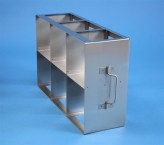 CellBox Mini  cryo cabinet rack 3x2 compartments for 6 Cryo boxes up to 122x122x128 mm folding handle, open frame