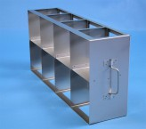 CellBox Mini  cryo cabinet rack 4x2 compartments for 8 Cryo boxes up to 122x122x128 mm folding handle, open frame