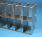 MT horizontal rack, with one intermediate shelf