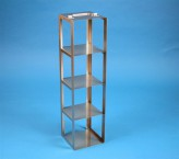 CellBox Maxi vertical rack for 4 cryoboxes up to 148x148x128 mm folding handle, stainless steel