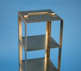 CellBox Mini vertical rack for 2 cryoboxes up to 122x122x128 mm folding handle, stainless steel