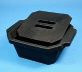 Thorbi insulated container / With lid, content 2,5 litres, black