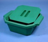 Thorbi insulated container / With lid, content 2,5 litres green
