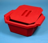 Thorbi insulated container / With lid, content 2,5 litres red