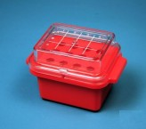 Isotherm Mini Cooler 0°C for 12 tubes from 0.5 ml to 2.0 ml red